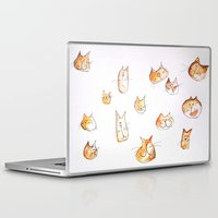 water colour Laptop & iPad Skins featuring Water-colour Cats by Jessy Belanger