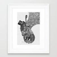 riff raff Framed Art Prints featuring Guitar Riff by Bungle