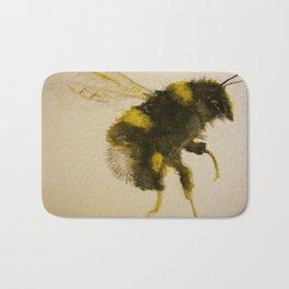 Watercolor Bumble Bee Painting Bath Mat