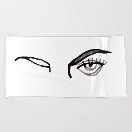inked eyes Beach Towel
