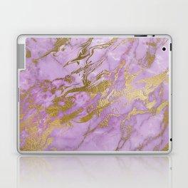 Lavender Gold Marble Laptop & iPad Skin