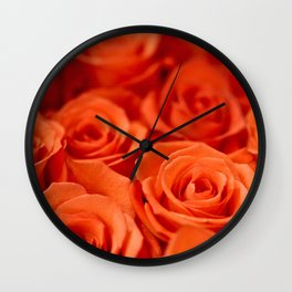 Delicate red roses Wall Clock