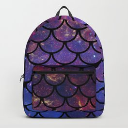 Galaxy Fish Scales Pattern Backpack