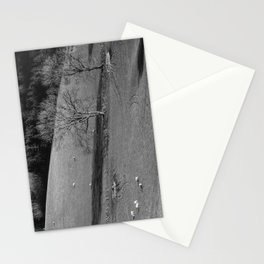 Grazing sheep and trees. Derbyshire, UK. Stationery Cards