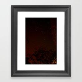 warm stars Framed Art Print
