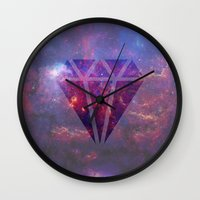 diamond Wall Clocks featuring Diamond by eARTh