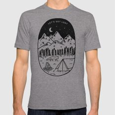 Let's Get Lost III Tri-Grey LARGE Mens Fitted Tee