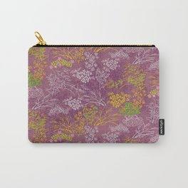 Japanese pattern floral purple Carry-All Pouch