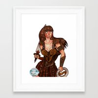 xena Framed Art Prints featuring Xena the Warrior Princess by Jazmine Phillips