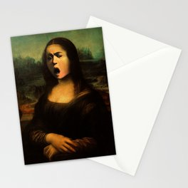 Caravaggio's Mona Lisa Stationery Cards