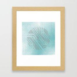 blue centre Framed Art Print