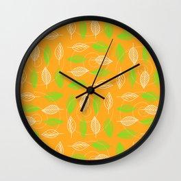 Leafy Swirl Wall Clock
