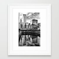 liverpool Framed Art Prints featuring Liverpool Reflection by Caroline Benzies Photography