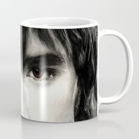 lee pace Mugs featuring Pace Lee in watercolors by Fatima Alshaali