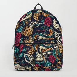 Retro tattoos Backpack