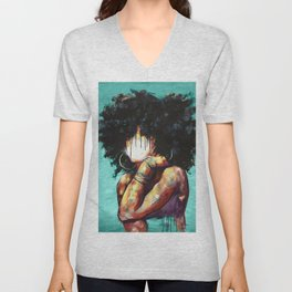 Naturally II TEAL Unisex V-Neck