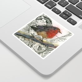 Just Be: Robin Red-Breast Sticker
