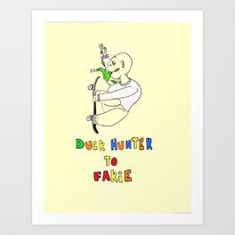 Duck Hunter to Fakie Art Print