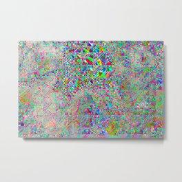 chaotic glitch Metal Print