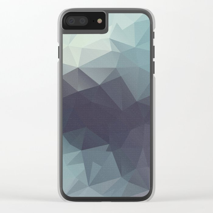 Polygon pattern . Triangles with a texture craquelure . 2 Clear iPhone Case