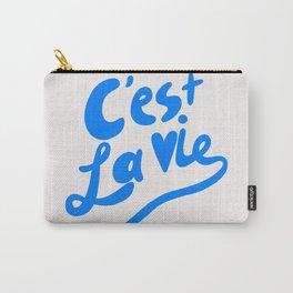 C'est La Vie art print, typography art print, quote art print Carry-All Pouch