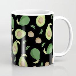 Avocado gen z fashion apparel food fight gifts black Coffee Mug