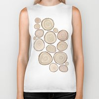 tree rings Biker Tanks featuring Tree Rings by Jackie Sullivan