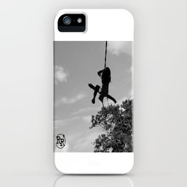 Girl on Swing B&W iPhone Case