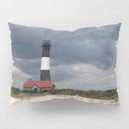 Dramatic Sky Over Fire Island Light Pillow Sham
