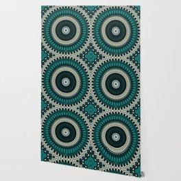 Mandala Fractal in Teal Study 01 Wallpaper