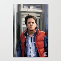 marty mcfly Canvas Prints featuring Marty McFly by Kaysiell