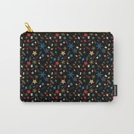 Christmas elements mix pattern Carry-All Pouch