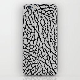 Elephant Print black / gray iPhone Skin