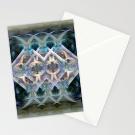 Abstract Multi-Colored Fractal (Night) Stationery Cards