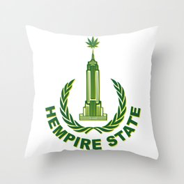 Hempire State Building Throw Pillow