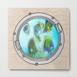 Triple Portholes Metal Print