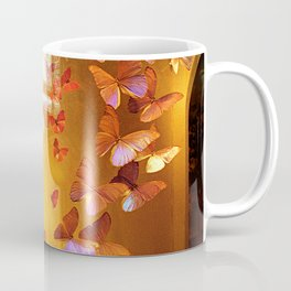 Butterflies in Window Coffee Mug