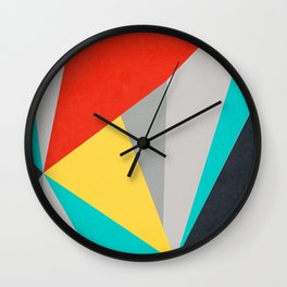 Aggressive Color Block Wall Clock