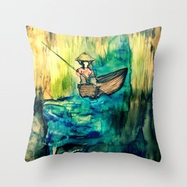 Tales on the Mekong Delta Throw Pillow