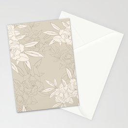 Seamless Gardenia Stationery Cards
