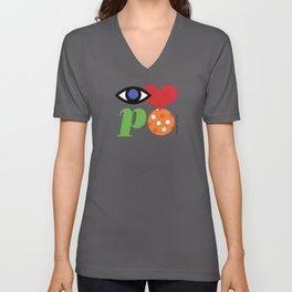Eye Love P Ball Rebus #1 Unisex V-Neck
