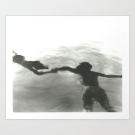 Black and White Abstract Water  Art Print