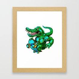 Green roller Framed Art Print
