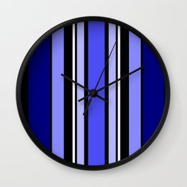 Stripes in colour 7 Wall Clock