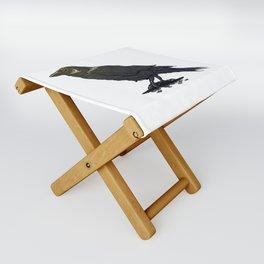 Crow Contemplation Folding Stool