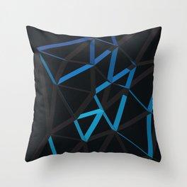 3D Futuristic GEO Lines VI Throw Pillow