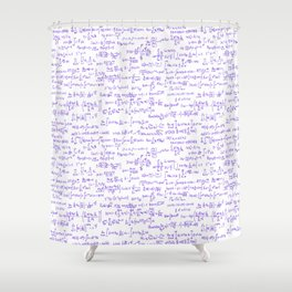 Purple Math Equations Shower Curtain
