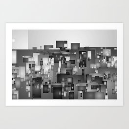 AbstractCity Art Print