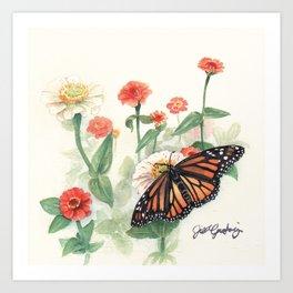 Monarch Study Art Print