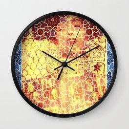 Gustav Klimt & Persian Ceramic Art inspired Wall Clock